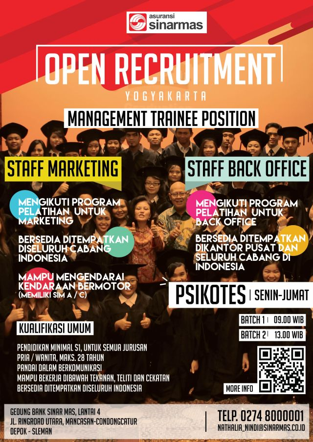 5. PT. Asuransi Sinarmas Open Recruitment