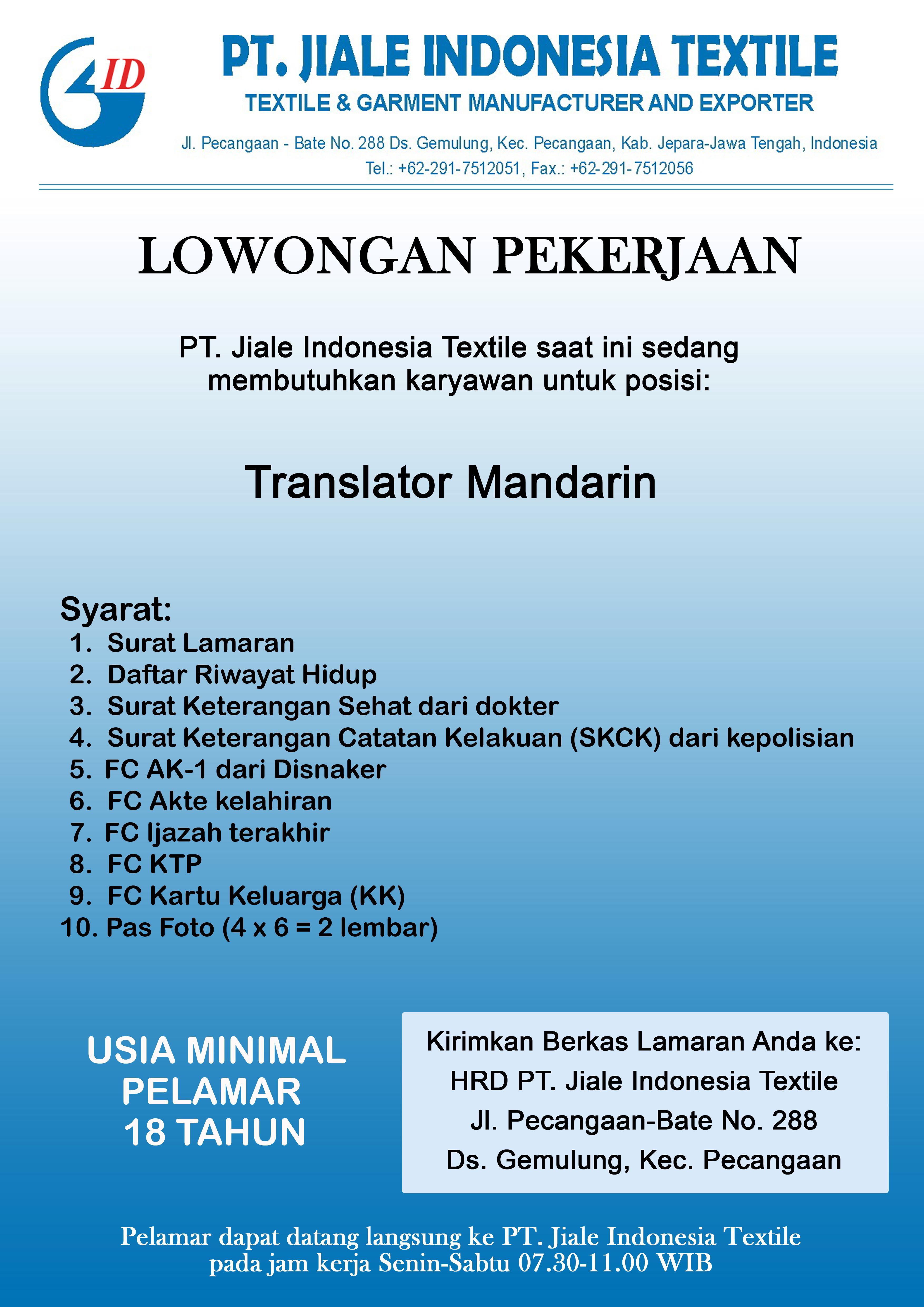 Lowongan Pekerjaan Bandung November 2015
